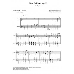 Duo Brillant op. 99 for 2 guitars - score