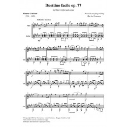 Duettino facile op. 77 - score