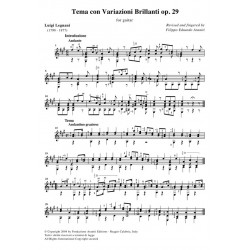 Tema con Variazioni Brillanti op. 29 for guitar