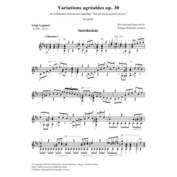 Variations agréables op. 30 for guitar