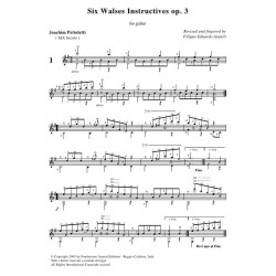 Six Walses Instructives op. 3