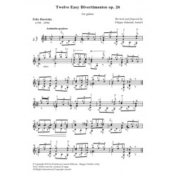 Twelve Easy Divertimentos op. 26