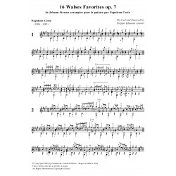 16 Walses Favorites de J. Strauss op. 7