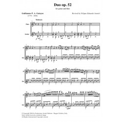 Duo op. 52 for guitar and flute - score
