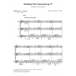 Troisième Trio Concertant op. 57 for guitar, violin and flute - score